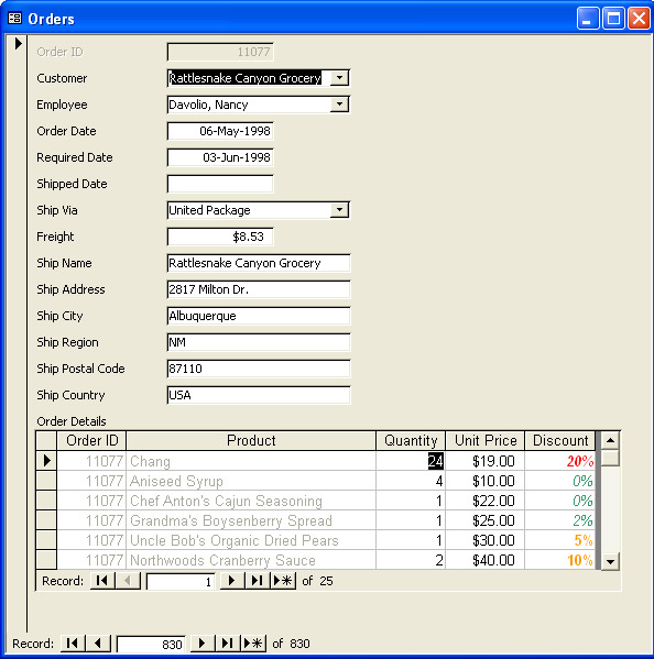 Formatting Controls on Main and Subforms