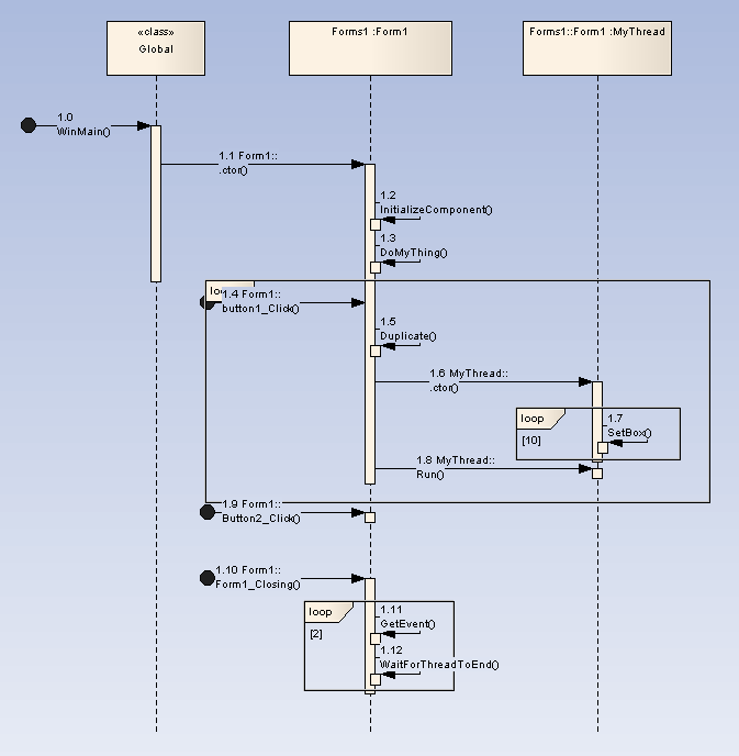 record and diagram a debug session  ea user guide net   sequence diagram