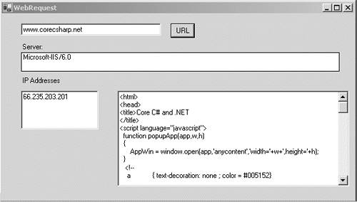17 6  Creating a Web Client with WebRequest and WebResponse